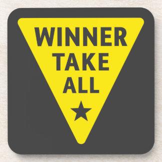 Winner Take All Beverage Coaster