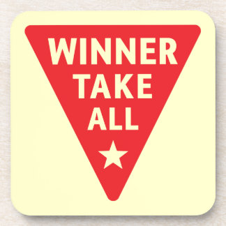 Winner Take All Drink Coaster