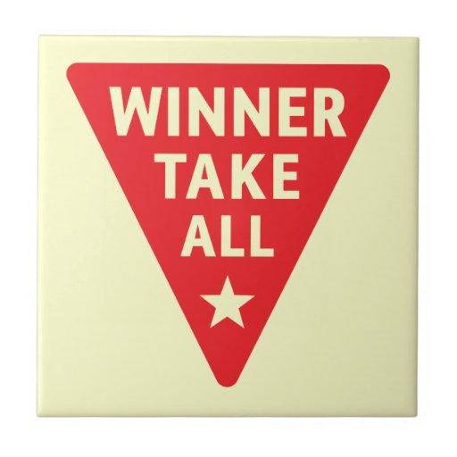 Winner Take All Small Square Tile