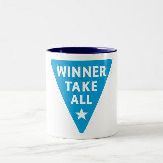 Winner Take All Two-Tone Coffee Mug