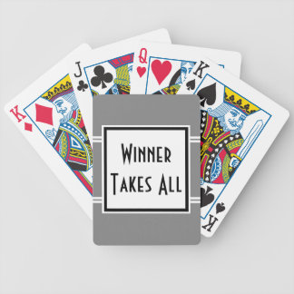 Winner Takes All Poker Game Quote Custom Color Bicycle Playing Cards