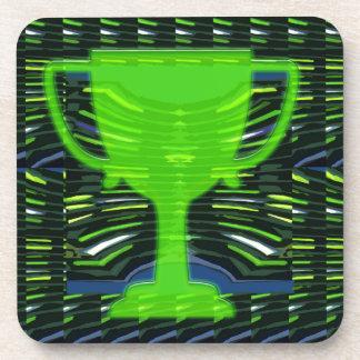 Winner Trophy Green Environmentalist Drink Coaster
