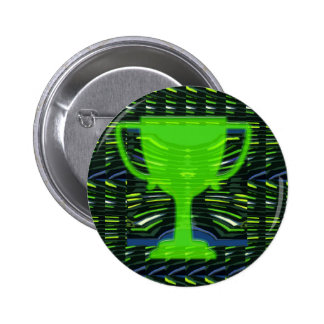 Winner Trophy Green Environmentalist Pinback Button