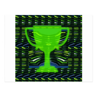 Winner Trophy Green Environmentalist Postcard