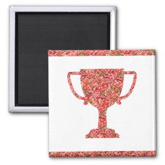 Winner Waves Winning Image 2 Inch Square Magnet