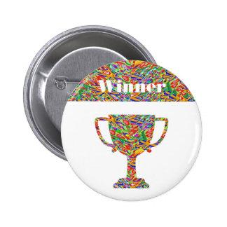 Winner Waves Winning Image Pinback Button