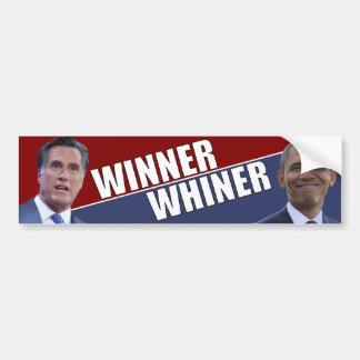 Winner - Whiner - Anti Obama election 2012 Bumper Sticker