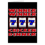 WINNER WINNER CHICKEN DINNER CARDS