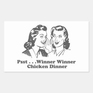 Winner Winner Chicken Dinner Funny Rectangular Sticker