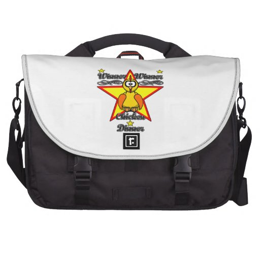 Winner Winner Chicken Dinner Laptop Messenger Bag