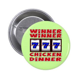 WINNER WINNER CHICKEN DINNER PINBACK BUTTON