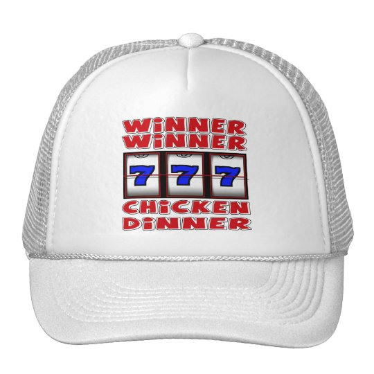 WINNER WINNER CHICKEN DINNER TRUCKER HAT