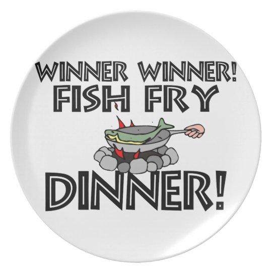 Winner Winner Fish Fry Dinner Plate