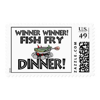 Winner Winner Fish Fry Dinner Stamp