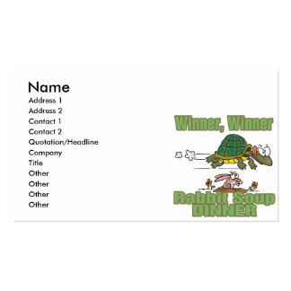 winner winner rabbit soup dinner fable humor business card
