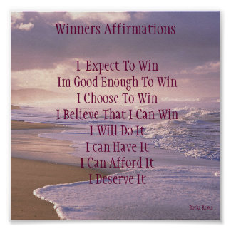 Winners Affirmations Poster