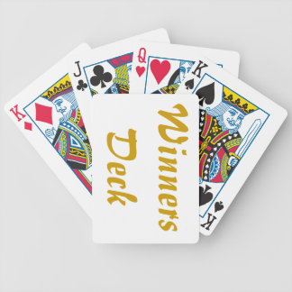 winners dwck of cards bicycle playing cards