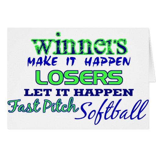 Winners....Fast Pitch Softball Cards