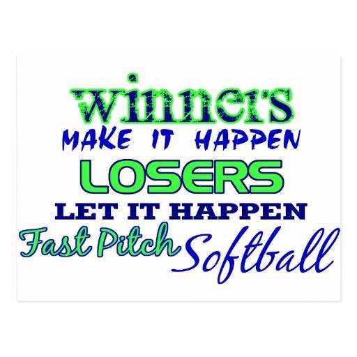 Winners....Fast Pitch Softball Post Card