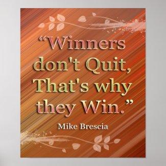 Winners-Motivational Message Print print