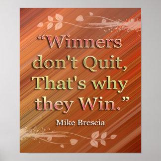Winners-Motivational Message Print