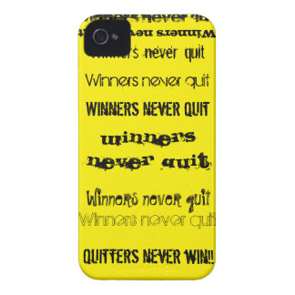 Winners Never Quit iPhone 4 Case