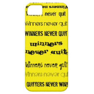 Winners Never Quit iPhone 5 Case