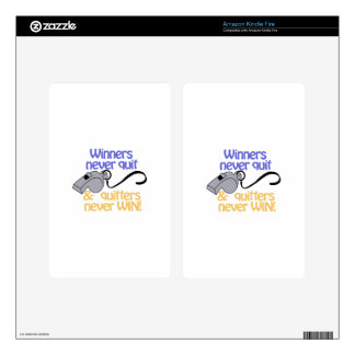 Winners Never Quit Kindle Fire Decal