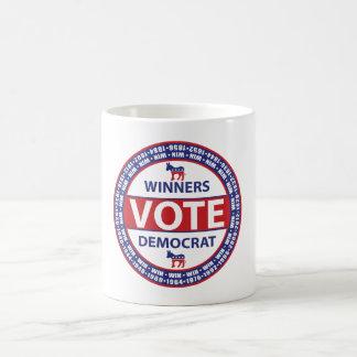 Winners Vote Democrat Coffee Mug