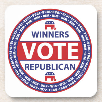 Winners Vote Republican Beverage Coaster
