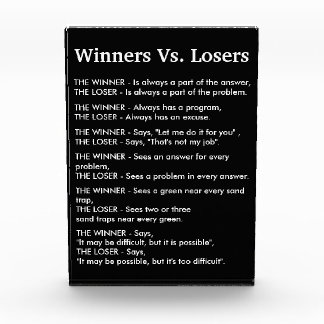 Winners Vs Losers Photo Block