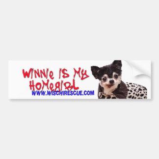 Winnie es mi Homegirl (la pegatina para el paracho Etiqueta De Parachoque