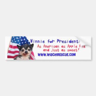 Winnie para el presidente (pegatina para el parach pegatina de parachoque