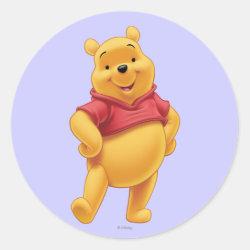 Round Sticker with Disney's Winnie the Pooh Gifts design
