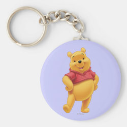 Basic Button Keychain with Disney's Winnie the Pooh Gifts design