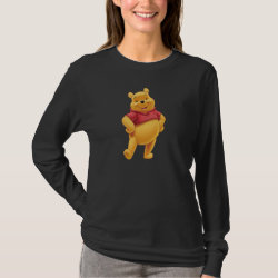 Women's Basic Long Sleeve T-Shirt with Disney's Winnie the Pooh Gifts design