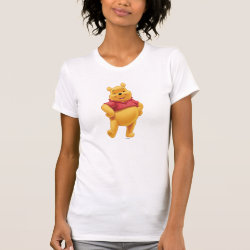 Women's American Apparel Fine Jersey Short Sleeve T-Shirt with Disney's Winnie the Pooh Gifts design