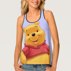 Women's All-Over Print Racerback Tank Top with Disney's Winnie the Pooh Gifts design