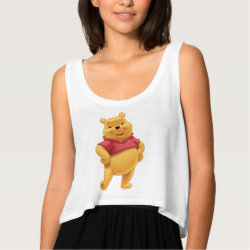 Women's Bella Flowy Crop Tank Top with Disney's Winnie the Pooh Gifts design