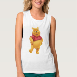 Women's Bella Flowy Muscle Tank Top with Disney's Winnie the Pooh Gifts design