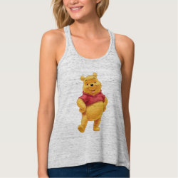 Women's Bella+Canvas Flowy Racerback Tank Top with Disney's Winnie the Pooh Gifts design