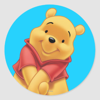 Winnie the Pooh 13 Pegatina Redonda
