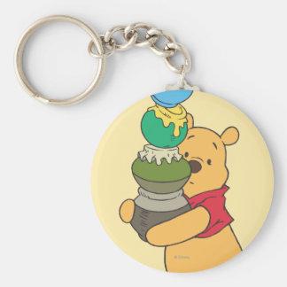 Winnie the Pooh 3 Llavero Redondo Tipo Pin