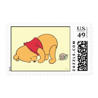 Winnie the Pooh 4 Sellos Postales