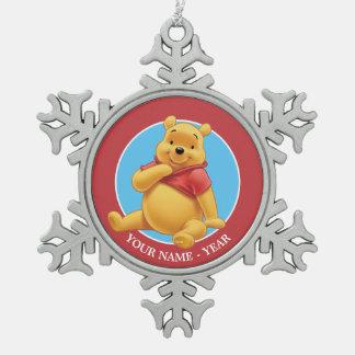 Winnie the Pooh 8 Adorno De Peltre En Forma De Copo De Nieve