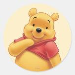 Winnie the Pooh 8 Etiqueta Redonda