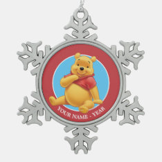 Winnie the Pooh 8 Snowflake Pewter Christmas Ornament at Zazzle