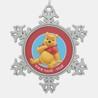 Winnie the Pooh 8 Snowflake Pewter Christmas Ornament