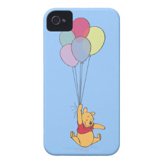 Winnie the Pooh and Balloons Case-Mate iPhone 4 Cases