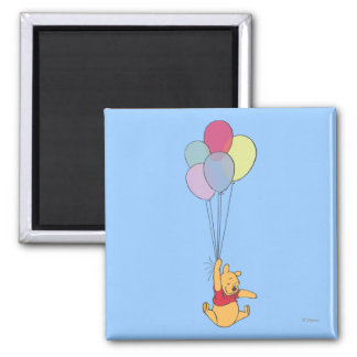 Winnie the Pooh and Balloons Magnet